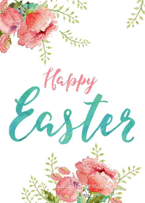 printable easter flowers 18 free printable easter cards for everyone you know