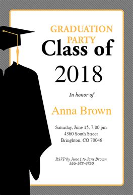 Class Of Free Graduation Party Invitation Template Greetings Island Graduation Invitation Card Template Free