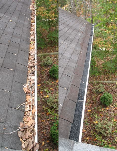fence gutter cleaning gutters of leaves were cleaned and gutter filters