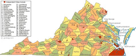 va county map map of virginia