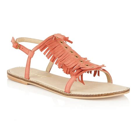 coral flat sandals buy ravel flat sandals in coral suede