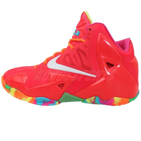 fruity pebbles basketball shoes nike lebron xi gs 11 fruity pebbles pink 2014 boys