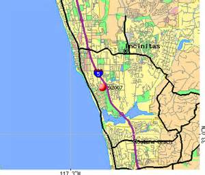 encinitas california map 92007 zip code encinitas california profile homes