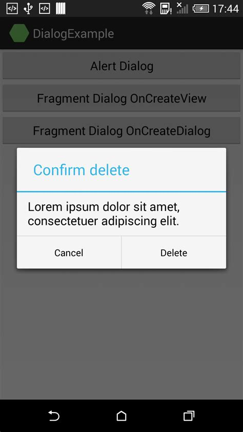 android class alertdialog and dialogfragment exle in xamarin android stacktips