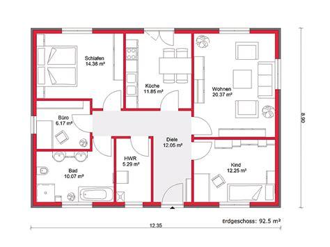 wohnung 85 qm grundriss bungalow artline b 92 hausbau rostock massivhaus