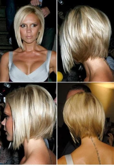 short angled bobs that can be wore straight or curly victoria beckham angled bob casual everyday