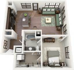 Floor Plans For One Bedroom Apartments by 1 Bedroom Apartment House Plans Smiuchin