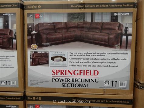 Pulaski Springfield Power Reclining Sectional by Pulaski Springfield Power Reclining Sectional