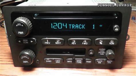 unlock    chevrolet theftlock radio