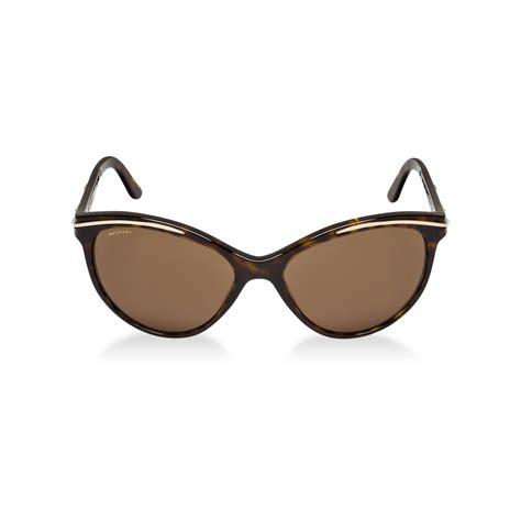 bvlgari bvlgari sunglasses in brown lyst