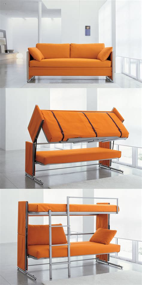 a sofa bed which turns into bunk beds interesting strange and great inventions 15 pics i