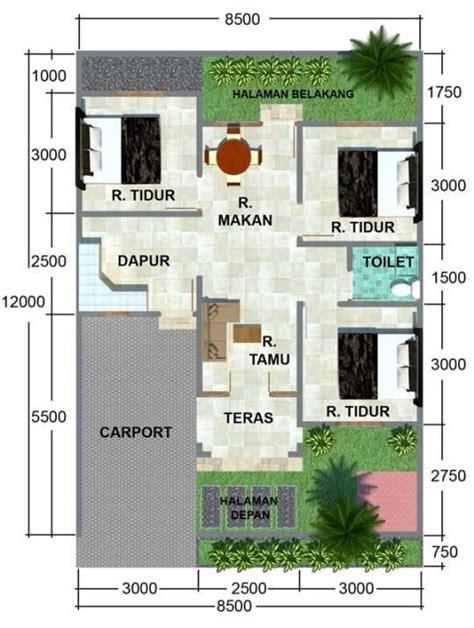 kumpulan desain rumah berkebun denah rumah ukuran 10 x 10 m 20 contoh denah rumah minimalis tipe 45 terbaru design rumah
