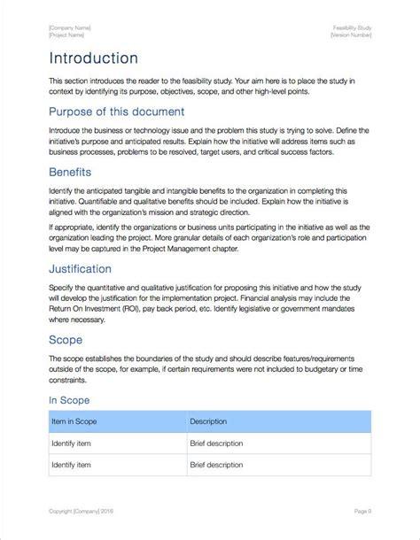 feasibility study template feasibility study apple iwork