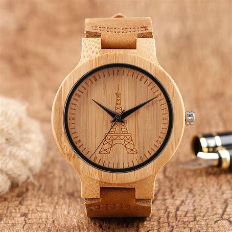 fashion eiller made nature wood watches quartz