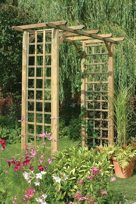 simple garden trellis classic arch this simple square garden arch features