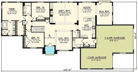 sprawling ranch house plan 89923ah 1st floor master
