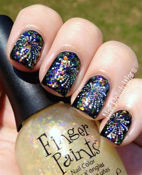 new year manicure design 2015 15 easy simple fireworks nails designs ideas 2018