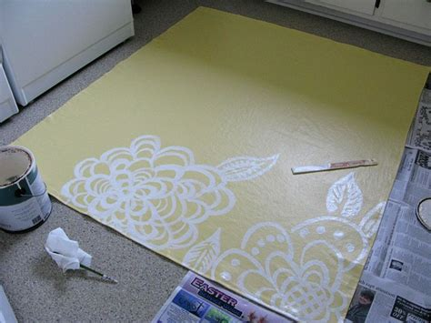 how to make a painted canvas rug painted floor cloth painted floor cloths yellow rug and painted canvas