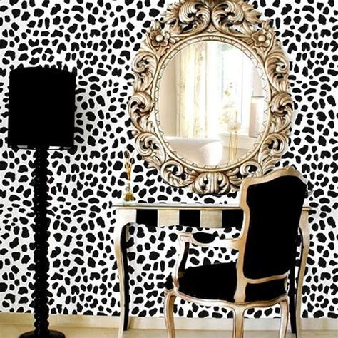 bloombety modern wall stencils with candles decorative leopard skin allover stencil large scale reusable wall