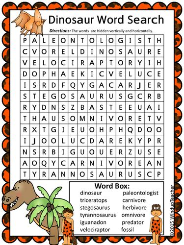 Dinosaur Word Search Pack by sfy773   UK Teaching