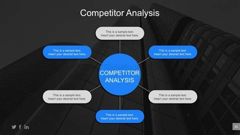 competitor analysis template powerpoint business competitor comparison powerpoint report slidemodel