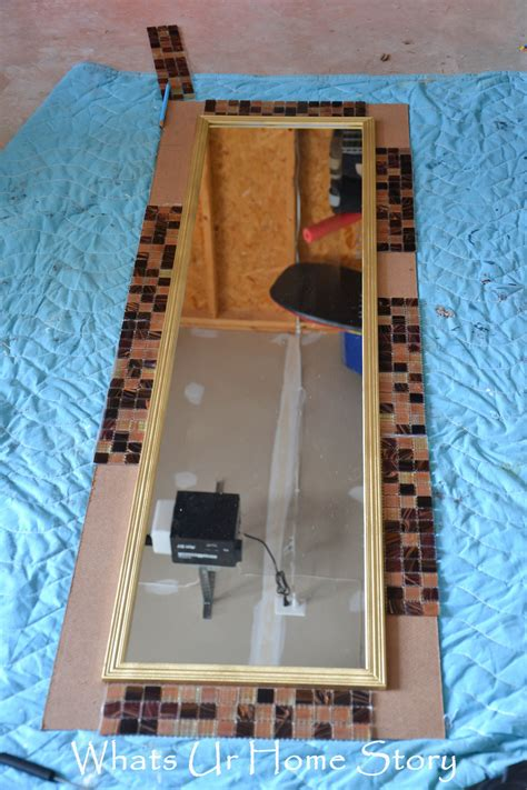 diy mirror diy tile mirror whats ur home story