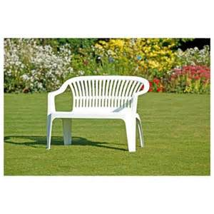 plastic patio bench plastic garden bench white images frompo