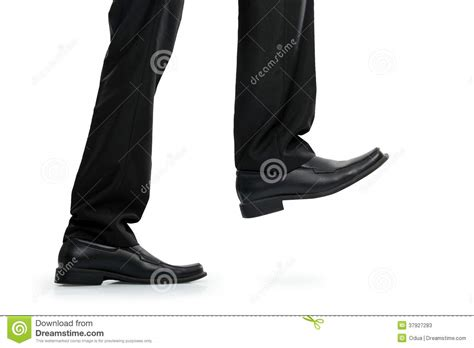 businessman foot stepping stock photos image 37927283