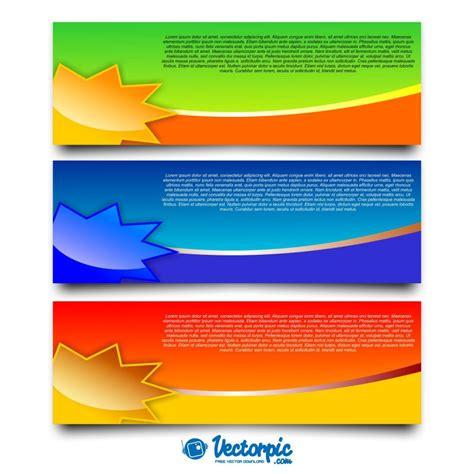 design banner simple simple background set banner design free vector