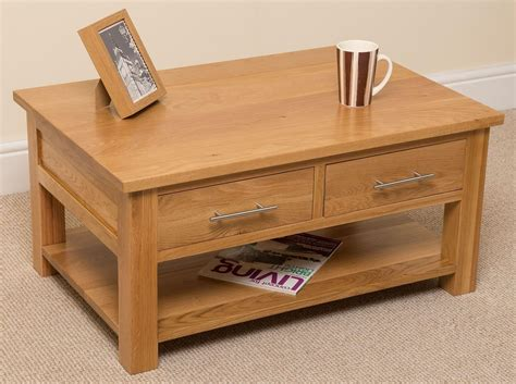 Solid Oak Coffee Table Oslo Solid Oak Coffee Table Free Uk Delivery