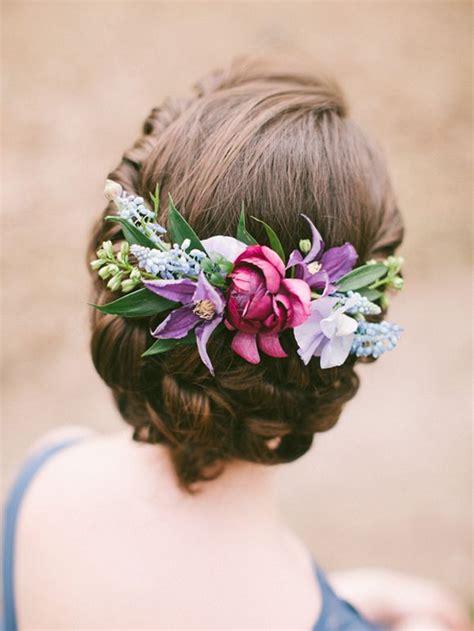 romantic wedding hairstyles  flower crown diy tutorials deer pearl flowers