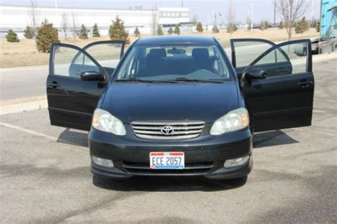 What Gas Mileage Does A Toyota Corolla Get Find Used 2003 Toyota Black Corolla S 1 Owner Reliable