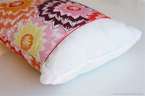 Zip Pillow Covers by Zippered Pillow Cover Make It And It