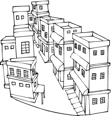 printable area of page neighborhood buildings coloring pages coloring pages