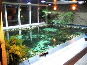 Indoor Pond Inspirations Modern Indoor Fish Pond Design To Decoration