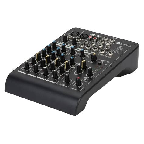 Mixer Audio 6 Channel rcf audio lpad6x 6 channel analog mixer at gear4music