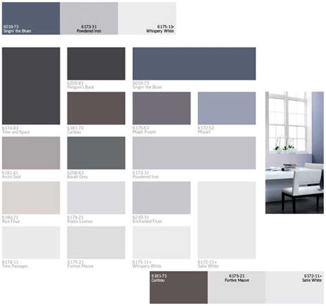 Gray Color Schemes | modern interior paint colors and home decorating color
