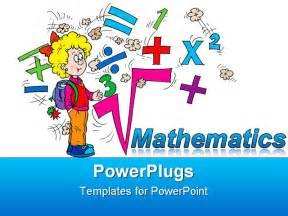 Free Math Powerpoint Templates For Teachers by Powerpoint Template Math Related Symbols And The Word
