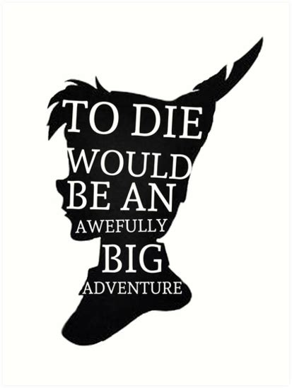 quot peter pan quote silhouette big adventure quot art prints