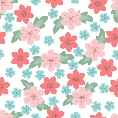 Seamless Pattern Flower | seamless flowers pattern free vector site download