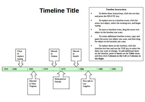 timeline templates for word sle timeline 9 documents in pdf word excel ppt