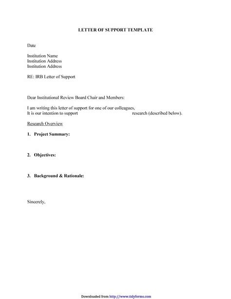 letter of support template grant 40 proven letter of support templates financial for