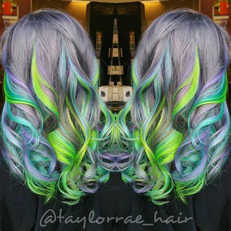 mermaid colored hair best 25 hair color ideas on mermaid
