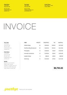 Invoice Tax Letterhead the sales invoice from vertex42 places to