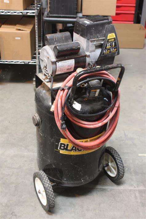 coleman powermate black max direct drive air compressor model bl0502710 property room