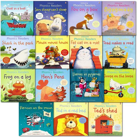 picture books for readers usborne phonics school readers 15 books collection