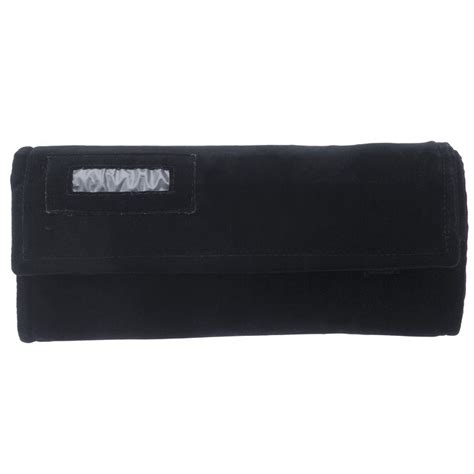 Envelopes Jewelry Rolls And Portfolios Are Awesome by Black Faux Suede Combination Jewelry Roll