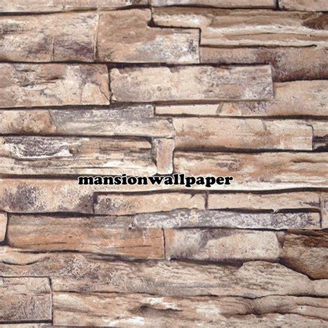 wallpaper batu bata 3d jual wallpaper dinding batu bata alam 3d tipe 1 mansion
