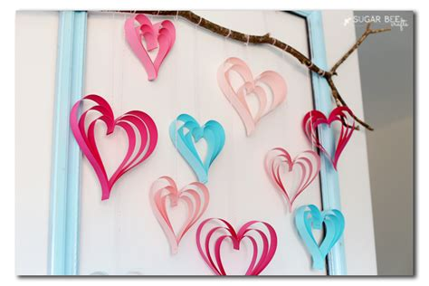paper craft hearts make paper hearts sugar bee crafts