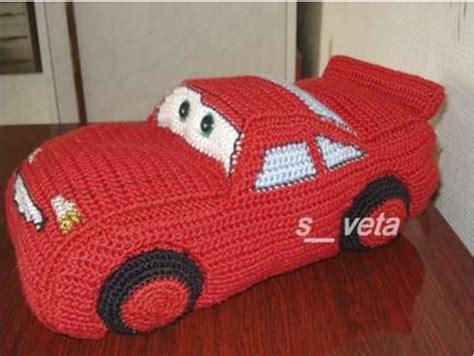 gorro tejido de cars rayo mc queen homenaje a mcqueen 1 4 coche a crochet hasta el monyo